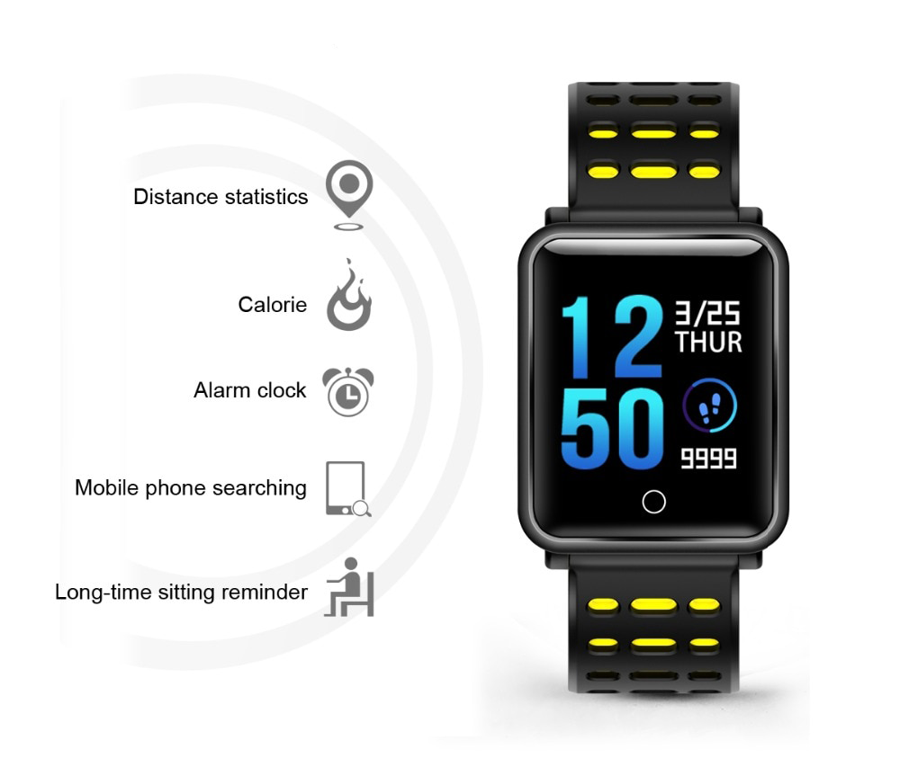 karkötő fitness smartwatch iUni M88 Plus